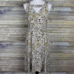 Moulinette Soeurs Fan Cut Iberis Silk Floral Dress